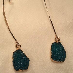 Jewelry - Dangling Threader Druzy Earrings
